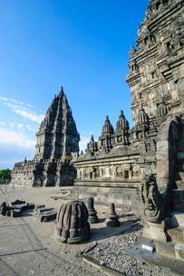The Prambanan Temple complex, Java, Indonesia, Southeast Asiaの写真素材 [FYI03781335]