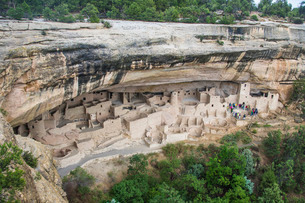 The Cliff Palace Indian dwelling, Mesa Verde National Park, Colorado'の写真素材 [FYI03781637]