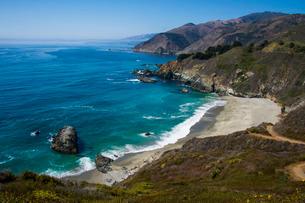 Overlook over the Big Sur, California, USAの写真素材 [FYI03781665]