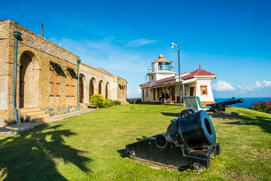 Fort King George, Scarborough, Tobago, Trinidad and Tobago, Caribbeanの写真素材 [FYI03781831]