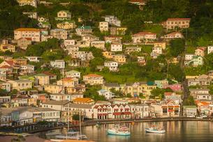 View over St. Georges, capital of Grenada, Windward Islands, Caribbeanの写真素材 [FYI03781854]