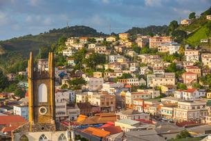 View over St. Georges, capital of Grenada, Windward Islands, Caribbeanの写真素材 [FYI03781855]