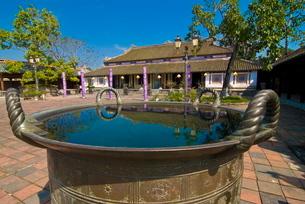Emperor's reading room, Forbidden Purple City, Hue, Vietnam, Indochina, Southeast Asiaの写真素材 [FYI03782028]