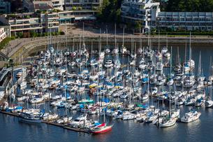 Aerial view, marina, False Creek, Vancouverの写真素材 [FYI03782148]