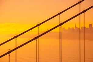 Golden Gate Bridge, San Franciscoの写真素材 [FYI03782155]