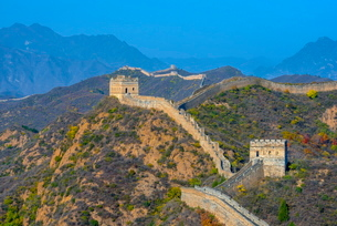Great Wall of China, dating from Ming Dynasty, Jinshanling, Luanping County, Hebei Provinceの写真素材 [FYI03782236]
