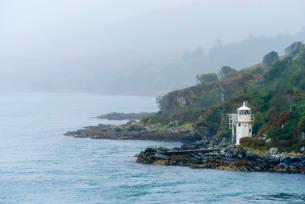 Carraig Mhor Lighthouse, Sound of Islay near Port Askaig, Argyll and Bute, Scotlandの写真素材 [FYI03782272]