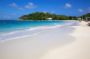 Long Bay, Beach, Antigua, Leeward Islands, Caribbeanの写真素材 [FYI03782572]