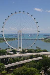 Marina Bay, Singapore Flyer, Singapore, Southeast Asiaの写真素材 [FYI03782767]