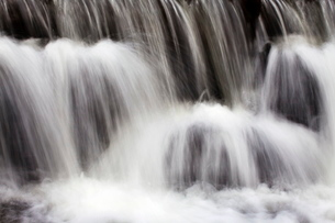 Waterfall in Scaleber Beck below Scaleber Force, Settle, North Yorkshire, Yorkshireの写真素材 [FYI03782937]