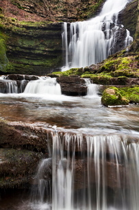 Scaleber Force (Foss Waterfall) near Settle, North Yorkshire, Yorkshireの写真素材 [FYI03782942]
