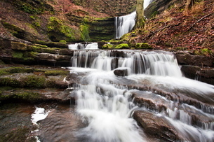 Scaleber Force (Foss Waterfall) near Settle, North Yorkshire, Yorkshireの写真素材 [FYI03782948]