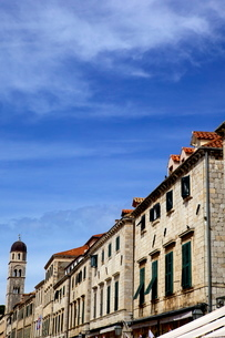 Main street Stradun (Placa) in the old town of Dubrovnikの写真素材 [FYI03783016]