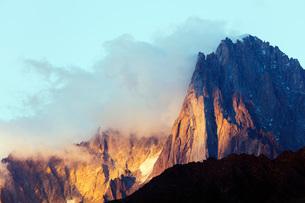 Les Drus and Aiguille Verte, 4122m, Chamonix, Rhone Alpes, Haute Savoie, France, Europeの写真素材 [FYI03783342]