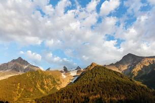 Glacier des Bossons, Mont Blanc massif, Chamonix, Rhone Alpes, Haute Savoie, France, Europeの写真素材 [FYI03783343]