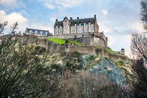 Edinburgh Castle, UNESCO World Heritage Site, Edinburgh, Scotland, United Kingdom, Europeの写真素材 [FYI03783731]