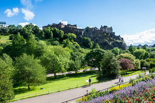 Edinburgh Castle, Edinburgh, Scotland, United Kingdom, Europeの写真素材 [FYI03783922]