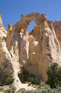 Grosvenor Arch, Grand Staircase-Escalante National Monument, Utah, United States of America, North Aの写真素材 [FYI03784136]