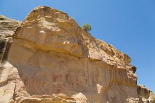 Sego Canyon Pictograph Panel, Sego Canyon, near Thompson, Utah, United States of America, North Amerの写真素材 [FYI03784141]