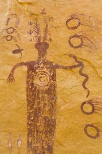 Head of Sinbad Pictograph Panel, San Rafael Swell, Utah, United States of America, North Americaの写真素材 [FYI03784147]