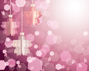 桜 オーナメント 背景のイラスト素材 [FYI03784155]