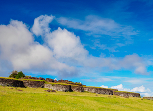 Orongo Village, Rapa Nui National Park, UNESCO World Heritage Site, Easter Island, Chile, South Amerの写真素材 [FYI03784270]