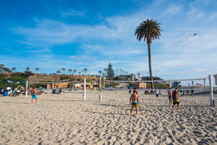 Beach of Encinitas, California, United States of America, North Americaの写真素材 [FYI03784328]