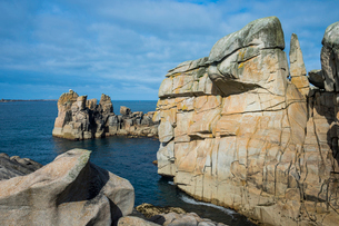 Huge granite rocks on St. Mary's, Isles of Scilly, England, United Kingdom, Europeの写真素材 [FYI03784424]