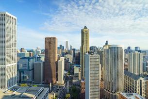 City skyline, Chicago, Illinois, United States of America, North Americaの写真素材 [FYI03784650]