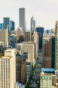 Skyscrapers, Chicago, Illinois, United States of America, North Americaの写真素材 [FYI03784651]