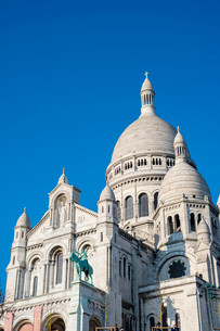 Basilica of Sacre Coeur, Montmartre, Paris, France, Europeの写真素材 [FYI03784679]