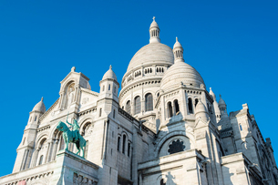 Basilica of Sacre Coeur, Montmartre, Paris, France, Europeの写真素材 [FYI03784681]