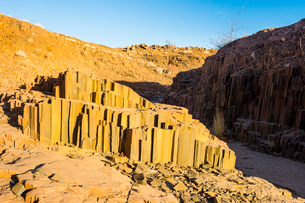 Unusual Organ Pipes monument, Twyfelfontein, Namibia, Africaの写真素材 [FYI03784755]
