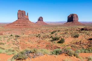Monument Valley, Navajo Tribal Park, Arizona, United States of America, North Americaの写真素材 [FYI03784865]