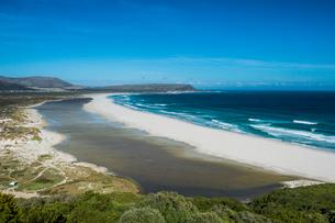 View over Noordhoek beach, Chapmans Peak, Cape of Good Hope, South Africa, Africaの写真素材 [FYI03784951]