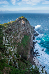 Rocky cliffs on Cape Point, Cape of Good Hope, South Africa, Africaの写真素材 [FYI03784953]