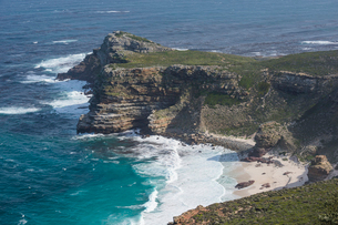 Rocky cliffs on Cape Point, Cape of Good Hope, South Africa, Africaの写真素材 [FYI03784970]