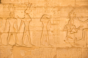 The Temple of Ramesses II (The Ramesseum), UNESCO World Heritage Site, West Bank, Luxor, Egypt, Nortの写真素材 [FYI03785183]