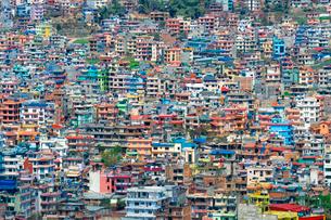 View over Kathmandu, Nepal, Asiaの写真素材 [FYI03785307]