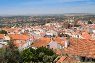 View of Portalegre, capital of the northern Alentejo, Portugal, Europeの写真素材 [FYI03785381]