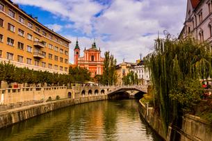 Ljubljana, the capital of Slovenia, Europeの写真素材 [FYI03785534]