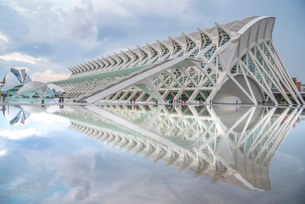 City of Arts and Sciences, Valencia, Spain, Europeの写真素材 [FYI03785681]