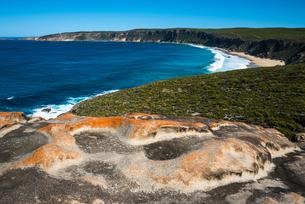 Views at the Remarkable Rocks, Flinders Chase National Park, Kangaroo Island, South Australia, Austrの写真素材 [FYI03785739]