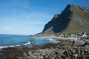 Overlooking Vikten, Lofoten Islands, Nordland, Norway, Scandinavia, Europeの写真素材 [FYI03785854]