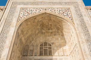 Pietra dura jali inlay, Taj Mahal, UNESCO World Heritage Site, Agra, Uttar Pradesh, India, Asiaの写真素材 [FYI03786131]