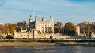 Panorama of Tower of London, UNESCO World Heritage Site, London, England, United Kingdom, Europeの写真素材 [FYI03786514]