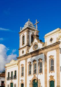 Sao Domingos Church, Terreiro de Jesus Square, Old Town, Salvador, State of Bahia, Brazil, South Ameの写真素材 [FYI03786552]
