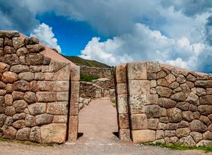 Puka Pukara Ruins, Cusco Region, Peru, South Americaの写真素材 [FYI03786592]