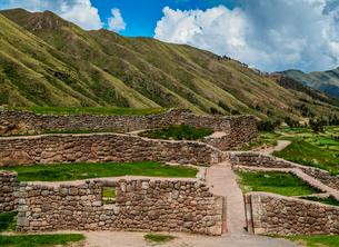 Puka Pukara Ruins, Cusco Region, Peru, South Americaの写真素材 [FYI03786593]