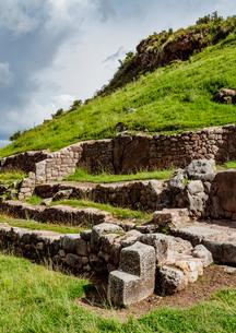 Tambomachay Ruins, Cusco Region, Peru, South Americaの写真素材 [FYI03786596]